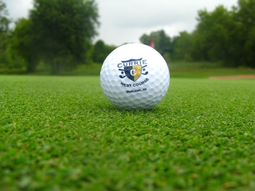 currie west golf course logo ball