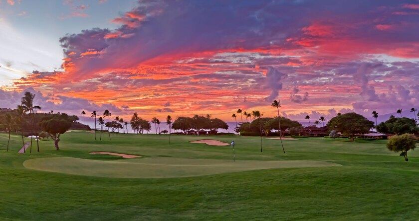 Royal Ka'anapali Golf Course - Hole 4 Sunset