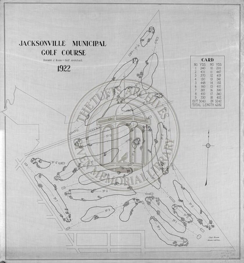 Brentwood Golf Course Blueprint