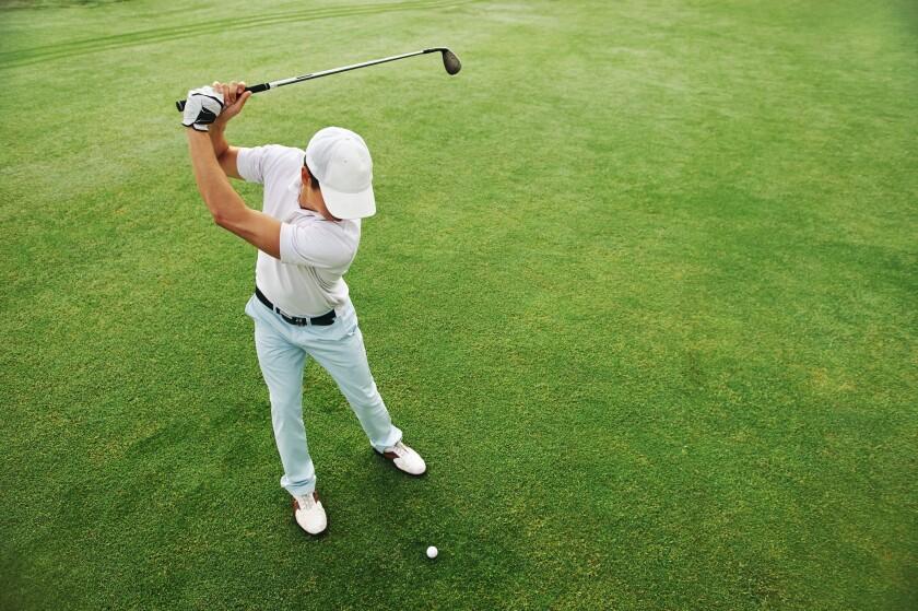 Man's Golf Swing